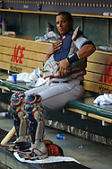 COPYRIGHT DAVID RICHARD.Victor Martinez of the Cleveland Indians..Cleveland Indians at Detroit Tigers, July 4, 2007