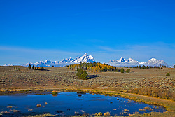 """Fall in the Grand Tetons. This is a little know corner of Grand Teton Park and one of my favorites.<br /> <br /> For production prints or stock photos click the Purchase Print/License Photo Button in upper Right; for Fine Art """"Custom Prints"""" contact Daryl - 208-709-3250 or dh@greater-yellowstone.com"""