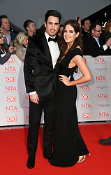 Josh Patterson and Alexandra Felstead attending the National Television Awards 2018 held at the O2, London. Photo credit should read: Doug Peters/EMPICS Entertainment