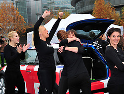 Most people crammed into a Mini.  New Guinness World Record set as  28 people fit into a Mini. The record for the most people crammed in a Mini is 28 using a Mini Hatch achieved by Dani Maynard and her team today, to raise funds for Children in Need. Potter's Field, London, United Kingdom, November 15, 2012. Photo by Nils Jorgensen / i-Images.