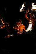 Male Hawaiian fire dancers. Hawaii RIGHTS MANAGED LICENSE AVAILABLE FROM www.PhotoLibrary.com