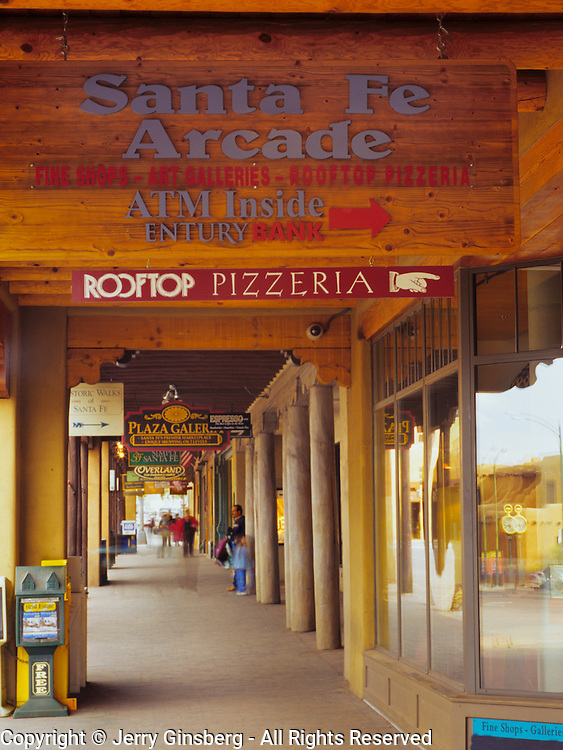 Downtown shopping at the old plaza in historic and charming Santa Fe, MN.