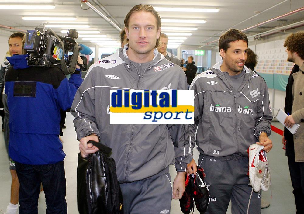 Fotball, 10. februar 2009 ,Trening foran privat-kampen mellom Norge og Tyskland<br /> Thorstein Helstad og Martin Andresen , Norge
