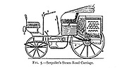 design of Leon Serpollet's Steam Road Carriage from the book ' Motor cars; or, Power carriages for common roads ' by Alexander James Wallis-Tayler,  Published in London, by Crosby Lockwood & son 1897. The development by Leon Serpollet of the flash steam boiler[42] brought about the appearance of various diminutive steam tricycles and quadricycles during the late 80s and early 90s,