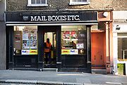 A Mail Boxes etc. shop on Bedford Street, London, United Kingdom. Mail Boxes etc. MBE is a worldwide courier and postage company.