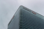 """A view of HSBC Headquarters at Canary Wharf business, financial and shopping district of London on Monday, Sept 21, 2020. A BBC report said that 'Britain's biggest bank moved the money through its US business to HSBC accounts in Hong Kong in 2013 and 2014. The report says that its role in the $80m (£62m) fraud is detailed in a leak of documents - banks' """"suspicious activity reports"""" - that have been called the FinCEN Files. (VXP Photo/ Vudi Xhymshiti)"""