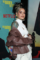 Singer-songwriter Kehlani arrives at the Los Angeles Premiere Of Netflix's 'The Harder They Fall' held at the Shrine Auditorium and Expo Hall on October 13, 2021 in Los Angeles, California, United States. Photo by Xavier Collin/Image Press Agency/ABACAPRESS.COM