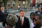 July 24, 2012-New York, NY:  John Liu, New York City Comptroller attends the official Slyvia Woods Harlem Community memorial and send off through the streets of Harlem. Sylvia Woods was an American restaurateur who co-founded the landmark restaurant Sylvia's in Harlem on Lenox Avenue, New York City with her husband, Herbert Woods, in 1962 (Photo by Terrence Jennings)