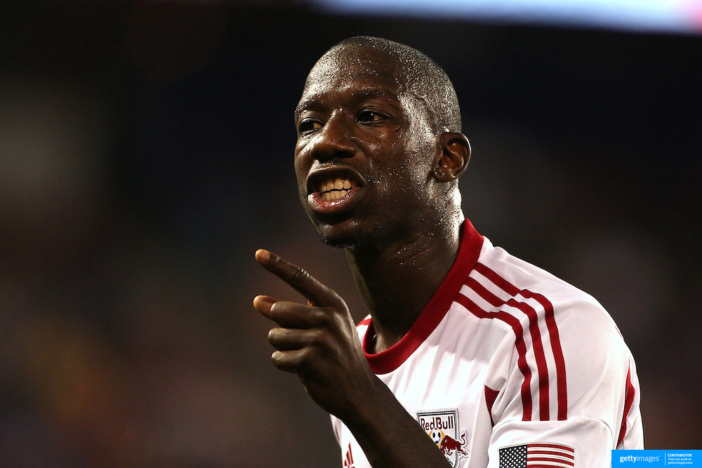Bradley Wright-Phillips , New York Red Bulls, during the New York Red Bulls Vs San Jose Earthquakes, Major League Soccer regular season match at Red Bull Arena, Harrison, New Jersey. USA. 19th July 2014. Photo Tim Clayton
