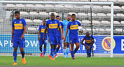 Cape Town-180318 Cape Town City players disappointed after conceding a second goal against Costa do Sol of Mozambique  in the Caf Confederations game at the Athlone Stadium .Photograph:Phando Jikelo/African News Agency/ANA