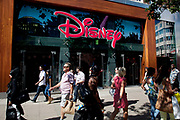 Shoppers pass outside the Disney store on Oxford Street, London, UK. Disney Store (formerly called The Disney Store) is an international chain of specialty stores selling only Disney related items, many of them exclusive. Disney Store is a business unit of Disney Consumer Products.