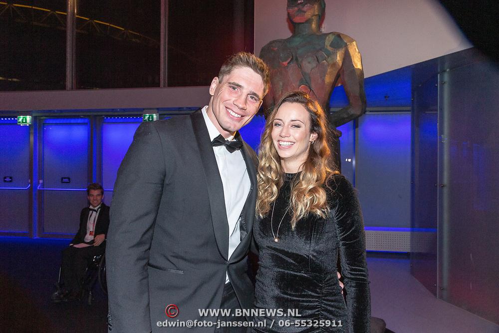NLD/Amsterdam/20181219 - NOC*NSF Sportgala 2018, Rico Verhoeven en partner