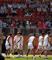 Photo: Chris Ratcliffe.<br />England Training Session. FIFA World Cup 2006. 14/06/2006.<br />England watched by the public during training.