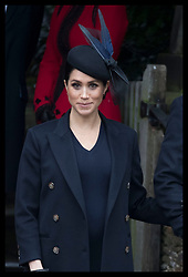 December 25, 2018 - Sandringham, United Kingdom - MEGHAN, The Duchess of Sussex, leaving the Christmas Day church service at Sandringham in Norfolk, United Kingdom. (Credit Image: © Stephen Lock/i-Images via ZUMA Press)
