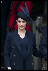December 25, 2018 - Sandringham, United Kingdom - MEGHAN, The Duchess of Sussex, leaving the Christmas Day church service at Sandringham in Norfolk, United Kingdom. (Credit Image: © Stephen Lock/i-Images via ZUMA Press)