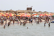 Israel, Tel Aviv, the crowds on the beach