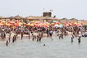 Israel, Tel Aviv, the crowds on the beach