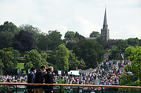 Tennis - 2021 All England Championships - Week One - Day Five (Friday) - Wimbledon<br /> Diego Schwartzman v Marton Fucsovics<br /> <br /> St Mary's Church on the Hill at Wimbledon Village, overlooks the tennis courts<br /> <br /> <br /> CreditCOLORSPORT/Andrew Cowie