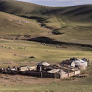 Mongolia. In the Orkhon valley, Bayamsuren family  Hakhorin -