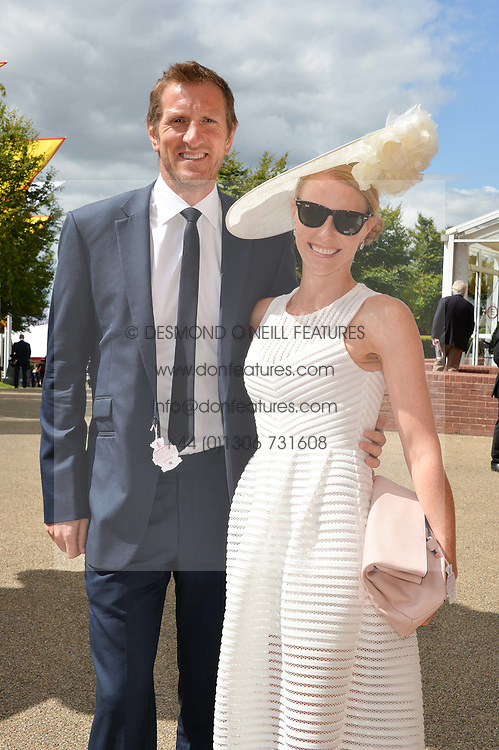 Rugby player WILL GREENWOOD and his wife CAROLINE at the Qatar Goodwood Festival - Ladies Day held at Goodwood Racecourse, West Sussex on 30th July 2015.