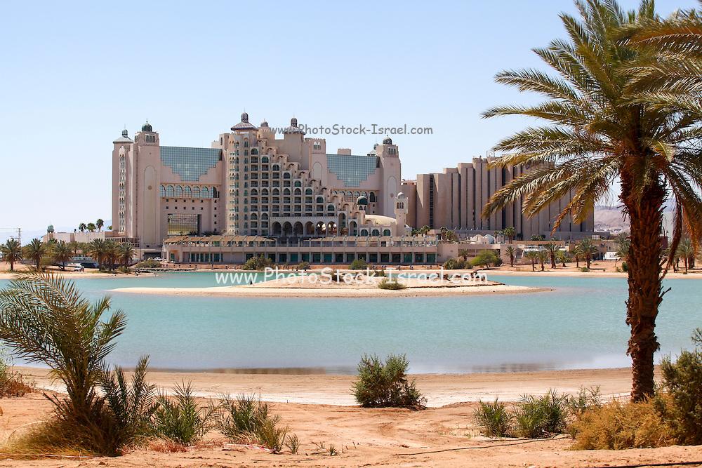Eilat, Israel. Hotel on the artificial lagoon