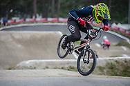 #309 (SHAW Mikalyn) USA at Round 6 of the 2018 UCI BMX Superscross World Cup in Zolder, Belgium