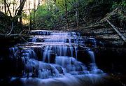 Waterfall at sunset in spring - Mississippi