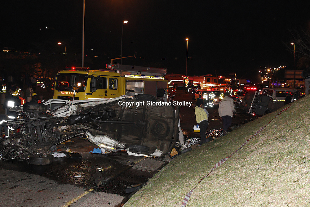 DURBAN - 5 September 2013 - Twenty four people were killed when a lorry's brakes failed on Field's Hill in Pinetown and ploughed through four taxis and a car. Picture: Allied Picture Press/APP