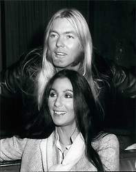 Nov. 11, 1977 - Cheer and Gregg in London: Cher and Gregg Allman (former Sonny and Cher) arrived in London for the start of their tour of the United Kingdom. Cher became famous with her former singing partner and husband Sonny, but she is now married to Gregg Allman. Photo Shows Cher and Gregg during today's photo call at Inn on the Park hotel today. (Credit Image: © Keystone Press Agency/Keystone USA via ZUMAPRESS.com)
