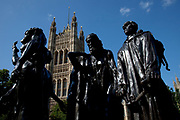 Statue of The Burghers of Calais, by Auguste Rodin in The Victoria Tower Gardens, Westminter, London.