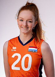 Rixt van der Wal of Netherlands, Photoshoot selection of Orange women's youth volleybal team season 2021on june 15, 2021 in Arnhem, Netherlands (Photo by RHF Agency/Ronald Hoogendoorn)