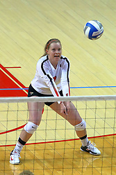 23 November 2017:  Sydney Holt during a college women's volleyball match between the Valparaiso Crusaders and the Illinois State Redbirds in the Missouri Valley Conference Tournament at Redbird Arena in Normal IL (Photo by Alan Look)