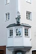 Austria, Tyrol, Schwaz. Franz Josef pedestrian Street in the old town