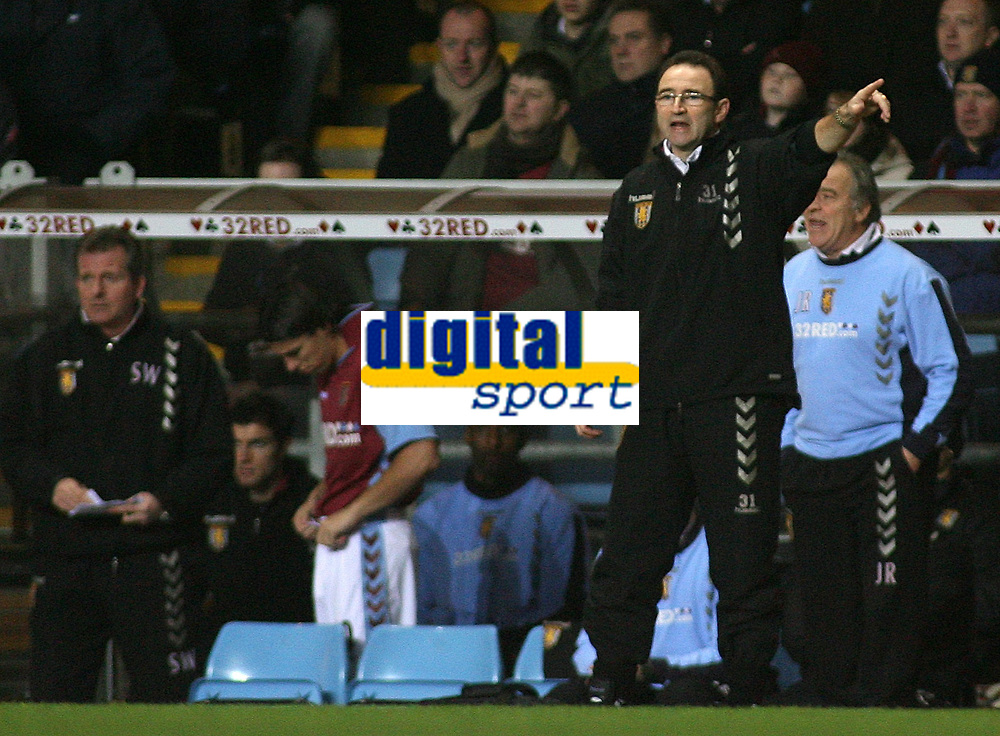 Photo: Paul Thomas.<br /> Aston Villa v Chelsea. The Barclays Premiership. 02/01/2007.<br /> <br /> Martin O'Neill, manager of Villa.