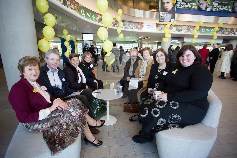 Mary and James Raftery from Roscommon, Henrietta Quinn and Maura Ryan from Cashel Co Tipperary, Olive Louth and Bernadette Larkin from Dundalk, Eileen Farrelly, Daffodil Cantre Mater Hspital and Daffodil Centre Manager Aileen McHale
