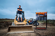 Zack Beavers pose for a portrait at Seth Quintero, Mitch Guthrie, Jr.custom-built SXS course TexPlex in Dallas, Texas, USA on 29 August, 2021.