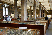 The Natural History Museum, London. The geology gallery where gemstones, rocks and minerals are on display.