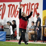 "HARRISON, NEW JERSEY- OCTOBER 15: Atlanta United head coach Gerardo ""Tata"" Martino on the sideline during the New York Red Bulls Vs Atlanta United FC, MLS regular season match at Red Bull Arena, Harrison, New Jersey on October 15, 2017 in Harrison, New Jersey. (Photo by Tim Clayton/Corbis via Getty Images)"