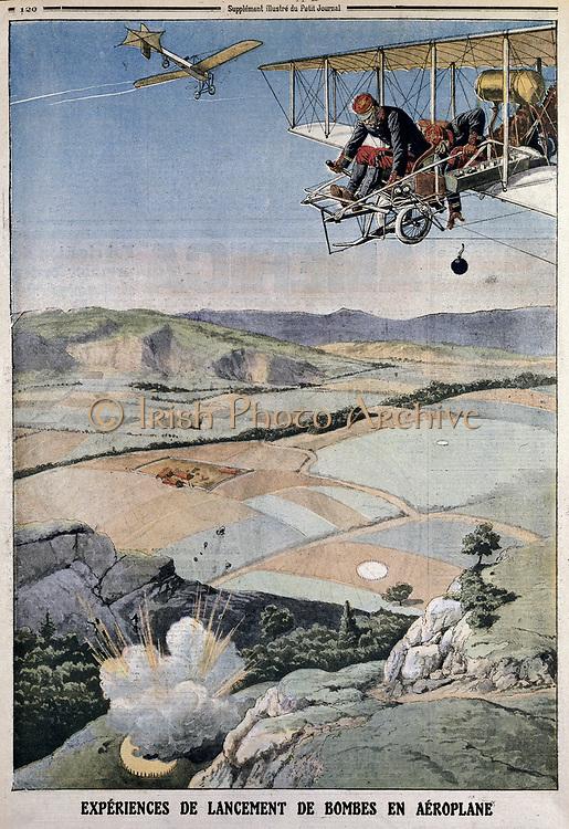 ar Paris chosen for h air corps on bomb practice at Chalons. From 'Le Petit Journal', Paris, 14 April 1912.