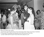 Julia Verdin and Hughie Grant, Piers Gaveston Ball, Park Lane Hotel 13.05.83© Copyright Photograph by Dafydd Jones 66 Stockwell Park Rd. London SW9 0DA Tel 020 7733 0108 www.dafjones.com