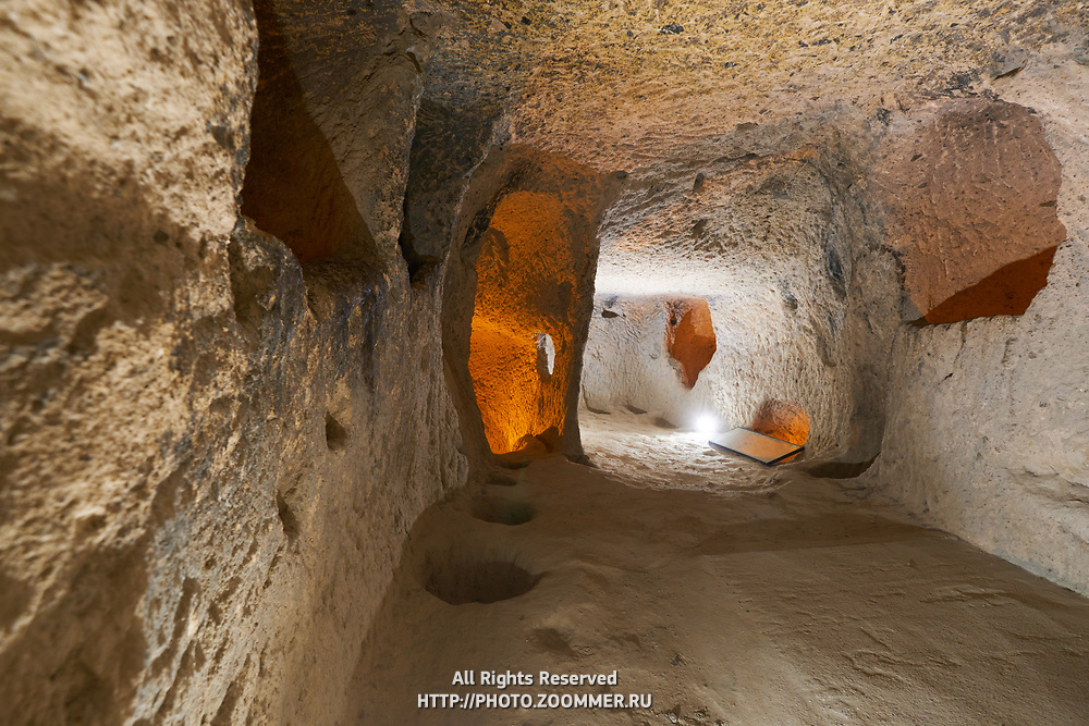 Ancient cave house in Kaymakli underground city in Cappadocia