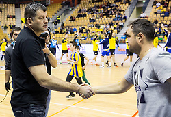 Gregor Cvijic, head coach of RK Gorenje and Branko Tamse, head coach of RK Celje PL during handball match between RK Celje Pivovarna Lasko and RK Gorenje Velenje in Eighth Final Round of Slovenian Cup 2015/16, on December 10, 2015 in Arena Zlatorog, Celje, Slovenia. Photo by Vid Ponikvar / Sportida