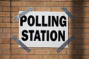 Polling Station in Whitechapel, in the East End of London. General Election Day May 6th 2010.