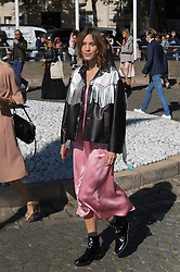 Alexa Chung attending the Miu Miu's Spring-Summer 2016/2017 Ready-To-Wear collection show in Paris, France, on October 5, 2016. Photo by Nicolas Genin/ABACAPRESS.COM