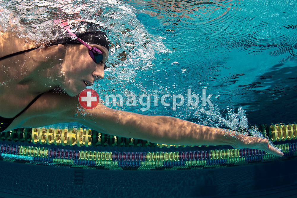 Swimmer Swann OBERSON of Switzerland is pictured during a training session at the outdoor swimming pool (Piscina Comunale) in Bellinzona, Switzerland, Monday, Aug. 8, 2011. (Photo by Patrick B. Kraemer / MAGICPBK)