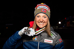 February 23, 2019 - Seefeld In Tirol, AUSTRIA - 190223 Silver medalist Ingvild Flugstad Østberg of Norway poses for a picture at the medal ceremony for women's cross country skiing skiathlon during the FIS Nordic World Ski Championships on February 23, 2019 in Seefeld in Tirol..Photo: Joel Marklund / BILDBYRÃ…N / kod JM / 87887 (Credit Image: © Joel Marklund/Bildbyran via ZUMA Press)