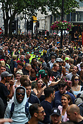 London, United Kingdom, June 27, 2021: Thousands of youth participate in an anti-government musical rave in central London on Sunday, June 27, 2021. (VX Photo/ Vudi Xhymshiti)
