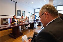 Ernest Aljancic Nestl na skupscini Hokejske zveze Slovenije, on September 7, 2011, in Ljubljana, Slovenia. (Photo by Matic Klansek Velej / Sportida)