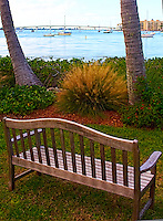 View of the Ringling Bridge in Sarasota, Florida from a Bench at Marie Selby Botanical Gardens. Image taken with a Leica X1 camera (ISO 100, 24 mm, f/5.6, 1/1600 sec). Post processed with Capture One Pro 6, Photoshop CS5, and Topaz Define 2.