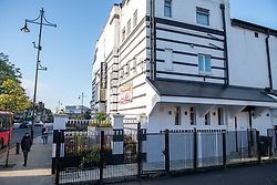 © Licensed to London News Pictures. 16/10/2020. London, UK. Exterior view of the Tudor Rose in Southall. The owner of an event venue in west London has been reported for consideration of a £10,000 fixed penalty notice, after they allowed a wedding reception to go ahead that attracted more than 100 people. London's Metropolitan Police Service were called to the Tudor Rose in Southall shortly after 18:30 BST on Tuesday, 13th October, 2020. After arriving on scene, it was clear to officers that a high number of people had crowded into the venue to celebrate a wedding. This was in clear breach of the regulations, which have been put in place by the Government to protect people from Coronavirus. Photo credit: Peter Manning/LNP